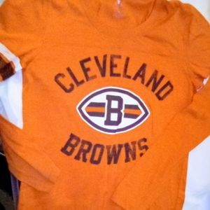 NFL PINK VS Cleveland Browns Long Sleeve Tee